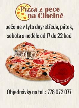 banner Pizza z pece na Cihelně
